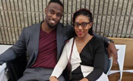 Derrick Jaxn and wife