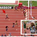 Screenshot graphic of Richardson in last place created by TMZ.com.